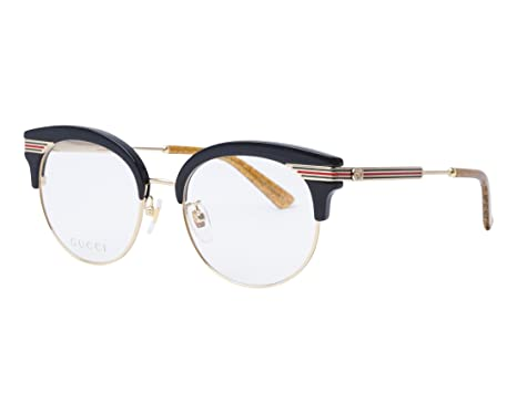 bcf98fd493b Image Unavailable. Image not available for. Color  GUCCI Web Etched 0285  Black Gold RX Eyeglasses 52mm