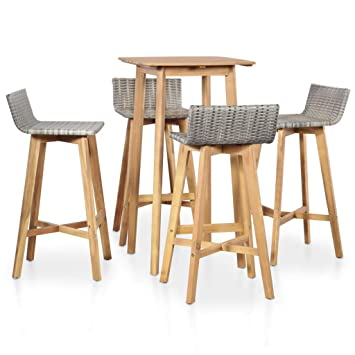 mewmewcat Ensemble Table 4 chaises de Bar Ensemble de Bar d ...