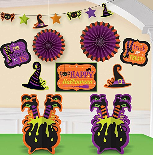 [Witches' Crew Room Decorating Kit] (Witch Cutouts)