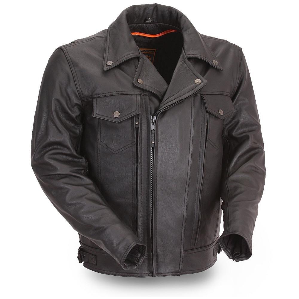 First Manufacturing Mens Mastermind Motorcycle Jacket FIRST MFG FIM244BNKDZ