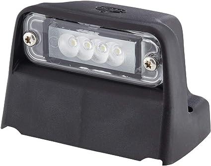 Hella 2ka 010 278 021 Kennzeichenleuchte Led 24v Anbau Geschraubt Lichtscheibenfarbe Glasklar Stecker Flachstecker Seitlicher Anbau Auto