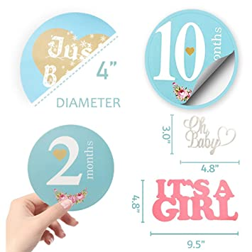 Baby Monthly Sticker Baby Belly Stickers Milestone Monthly Age Sticker for Baby