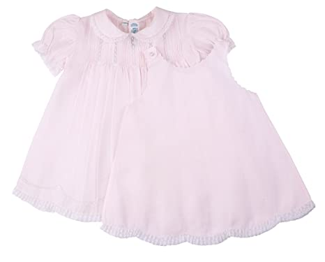 933f1fe9c9830 Amazon.com: Pink Lace Trimmed Slip Dress Infant (6 Months): Clothing