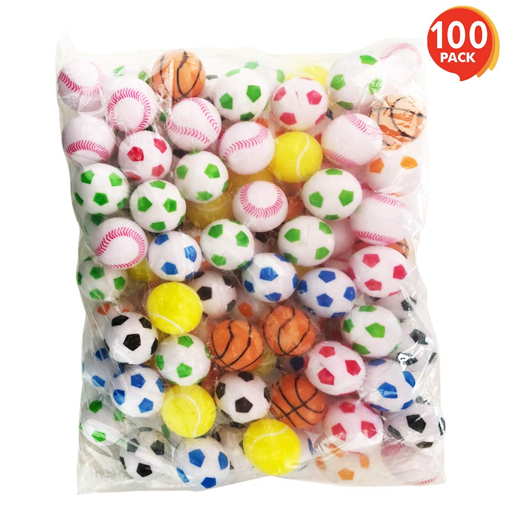 ArtCreativity Sports Plastic Beer Pong Balls (Pack of 100) | 33mm Colorful Assortments | Ping Pong Balls | Great Novelties for Beer Pong Games