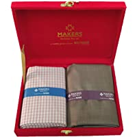 Raymond Makers Men's Viscose Unstitched Shirt and Trouser Fabric Combo (Multicolour Free Size)
