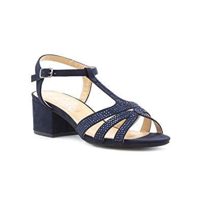 dda7c8d9f Lilley Womens Navy Block Heel Sandal  Amazon.co.uk  Shoes   Bags