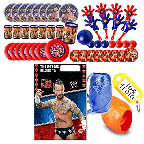 WWE World Wrestling Entertainment (8) Pre-Filled Party Favor Goodie Bags! Perfect For Party Giveaways & Gifts! by Spin Master