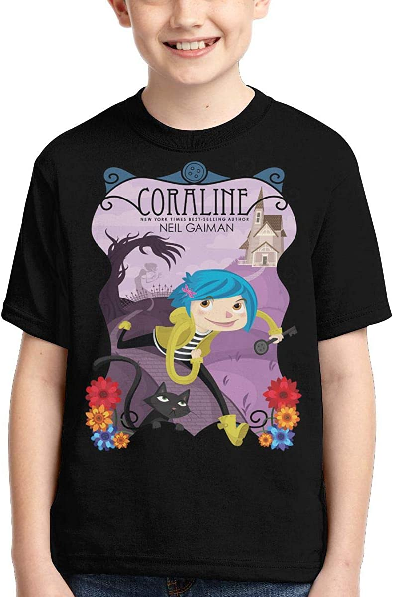 Lizhiguozhuanmai Boys,Girls,Youth Coraline Tee Shirt