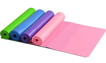 a9dbb43acd 4 Pack Super Exercise Band 5 ft. Long Resistance Bands. Flat Latex Free Home