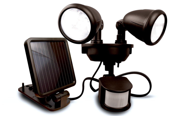 MAXSA Innovations 40216 Motion Activated Dual Head LED Security Spotlight, Dark Bronze