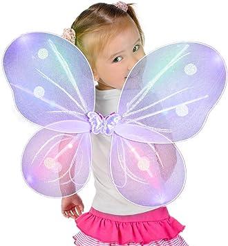 Fun Central AI610 alas de Mariposa LED, alas de Mariposa para ...