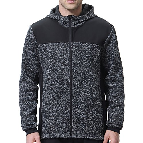 beroy Cycling Jacket Mens Fleece Thermal Zip Sweater Hoodie With Zipper Pockets Bike Hooded - Hood Cycling With Jacket