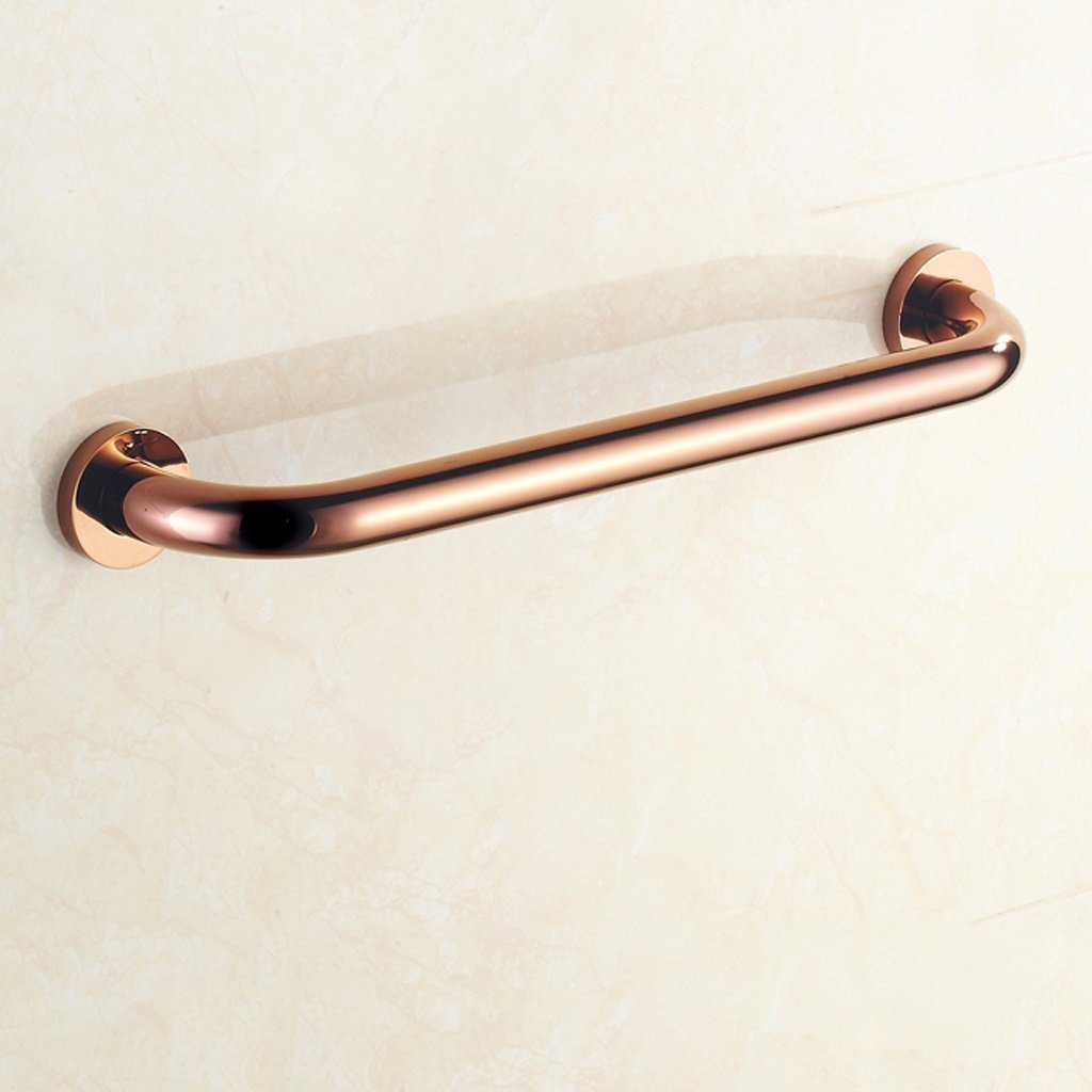 YAOHAOHAO Bathroom copper hand rails hand rails handrail handrail slip resistant bathroom hot tub control the safety of elderly (pink color of the gold)