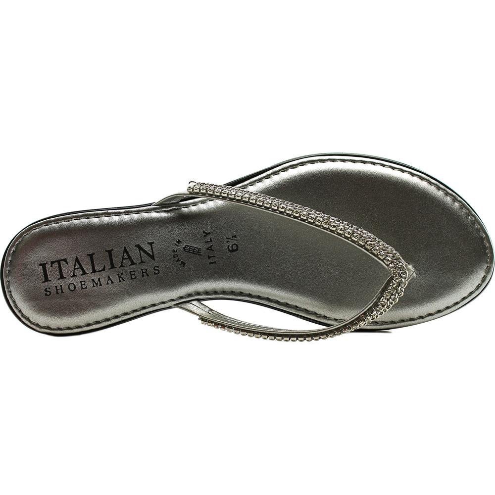 bc07dbf7d35 Italian Shoe Makers Kennedy Women US 6.5 Silver Thong Sandal  Amazon.ca   Shoes   Handbags