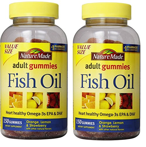 Nature Made Fish Oil Adult Gummies Nutritional Supplements, Value Size, 150 Count (Pack of 2)