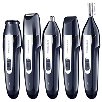 Xuanhemen SPORTSMAN 5-in-1 IPX7 Waterproof Electric Clipper USB Charging Nasal Hair Trimmer