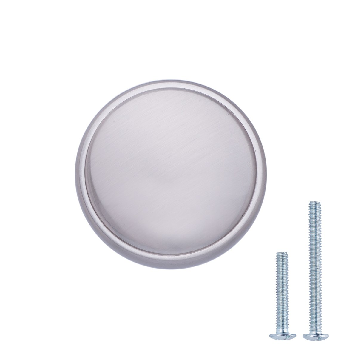 AmazonBasics Modern Wide Top Ring Cabinet Knob, 1.52'' Diameter, Satin Nickel, 10-Pack