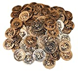 Gold Pirate Treasure Coins 144 Pcs.
