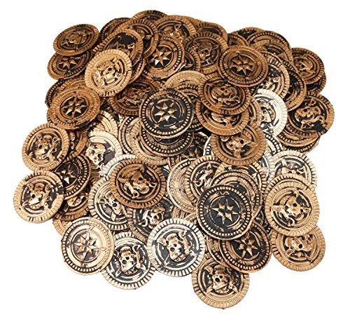 SNInc. Gold Pirate Treasure Coins 144 Pcs. -
