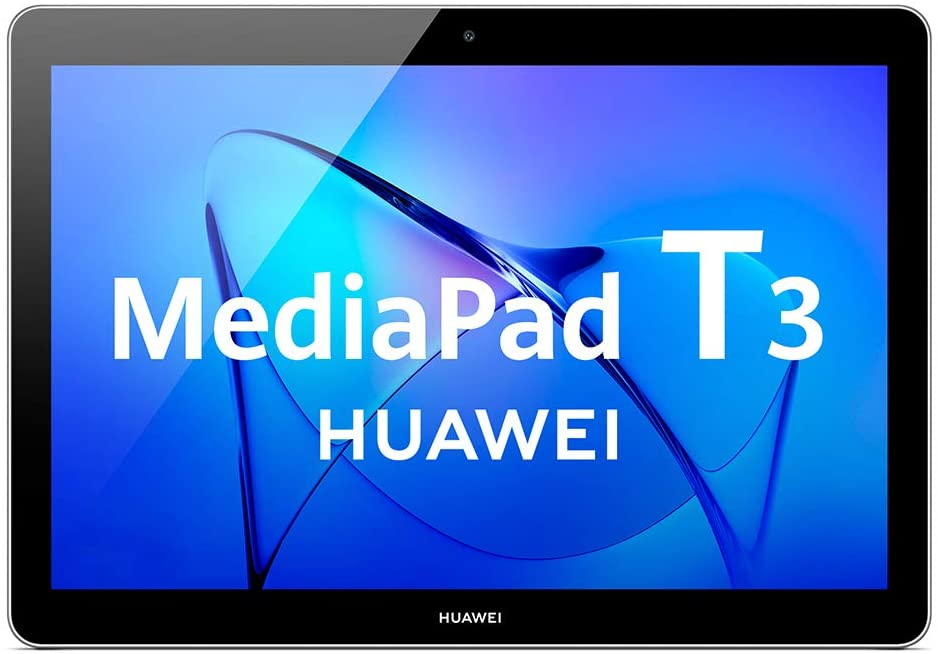 Huawei Mediapad T3 10 - Tablet de 9.6 pulgadas IPS HD (WiFi + 4G, Procesador quad-core Qualcomm Snapdragon 425, 2 GB de RAM, 16 GB de memoria interna, Android 7 Nougat), color gris