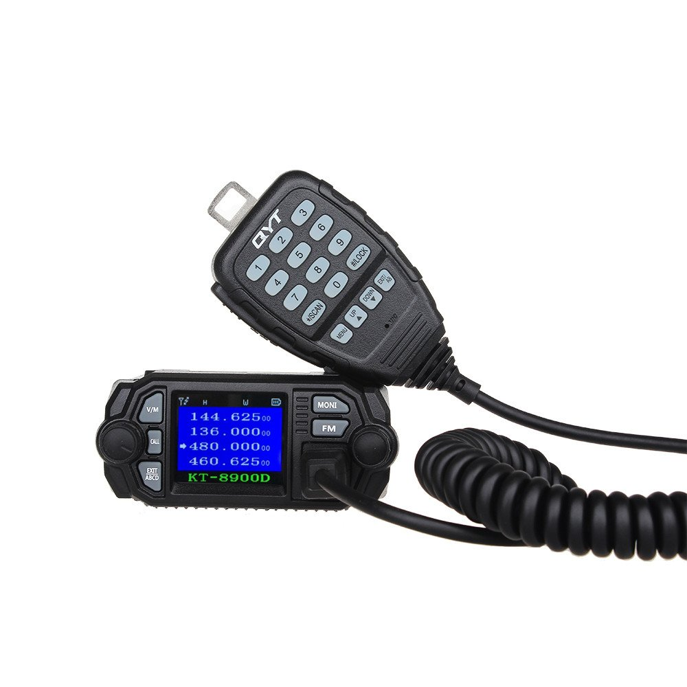 QYT KT-8900D 25W/20W UHF/VHF Two-Way Radios Dual Band Mini Car Mobile Radio (Version 1)