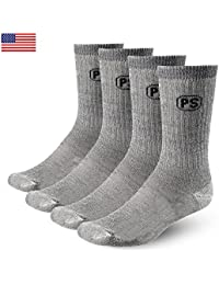 4pairs 71% Premium Merino Wool Crew Hiking Socks Made in...