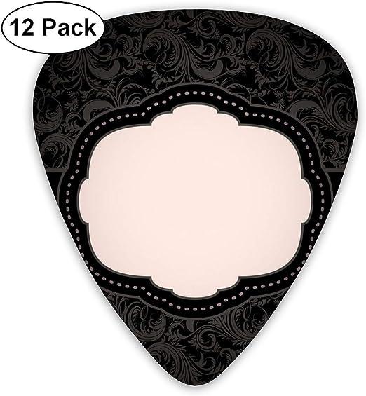 Slaytio 12 púas de Guitarra de Color Negro con patrón Floral sin ...