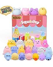 72c8666d3 LEEHUR Party Favors Kids Mochi Squishy 20Pcs Kawaii Soft Mini Moj Squishies  Pack Squeezes Stress Anxiety