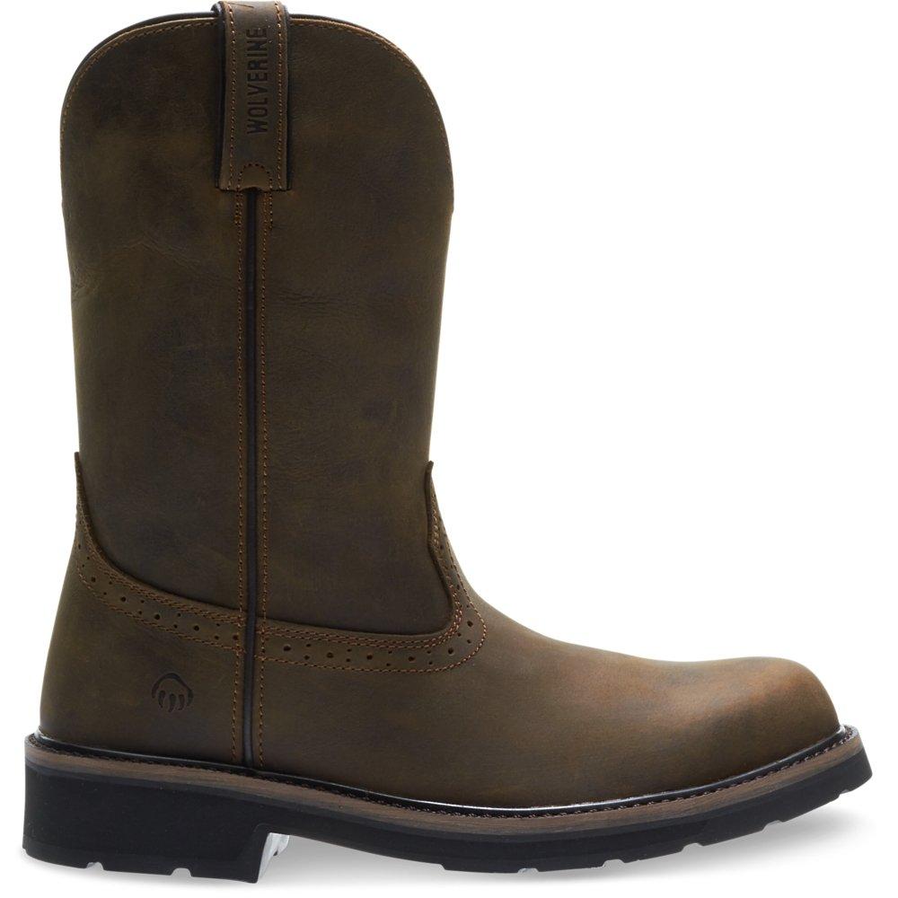 Wolverine Men's Ranchero Steel-Toe Wellington Construction Boot, Summer Brown, 8 Extra Wide US