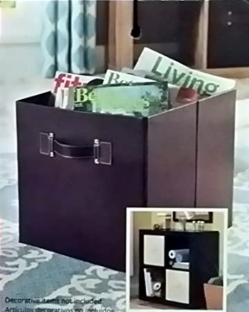Better Homes And Gardens Collapsible Faux Leather Storage Cube (Brown)