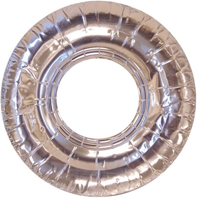 "104 Pc Aluminum Foil Round Stove Gas Burner Bib Liners Covers Disposable 7.5"" !"
