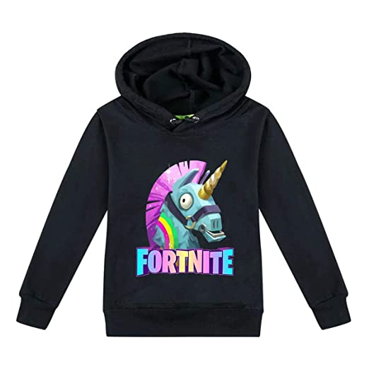 52729fca Amazon.com: MagerTeX Fortnite Kids' Hooded Youth Sweatshirt: Clothing