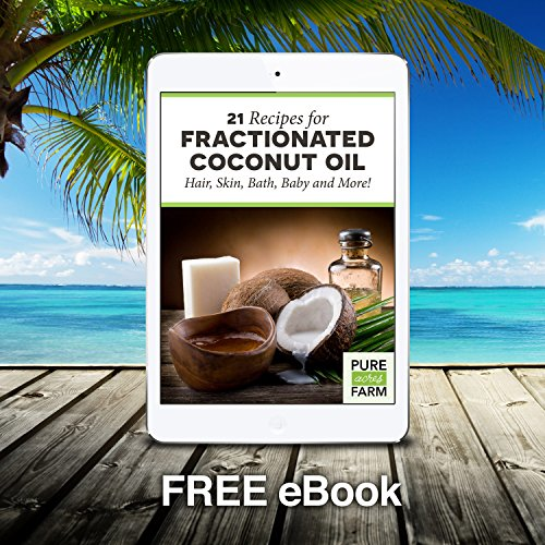 Fractionated Coconut Oil (Liquid) – Large 16oz – WITH PUMP + FREE Recipe eBook! – Use with Essential Oils and Aromatherapy as a Carrier and Base oil – Add to Roll-On Bottles for Easy Application