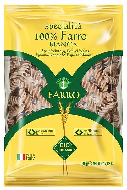 Probios Pasta de Espelta Fusilli - Paquete de 12 x 500 gr ...