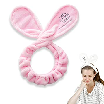 Amazon.com   Small Timor Cute Spa Bow Headband Inspired hair band Twist  Headband Perfect for Applying Make up and Washing Your Face (Pink)   Beauty 65f2866b98f6