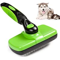 Self Cleaning Slicker Brush for Dogs and Cats, Groomer Shedding Grooming Tools Combs Rakes, Gently Removes Shedding Mats…