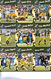 2016 Donruss Football Green Bay Packers Team Set of 12 Cards: Aaron Rodgers(#104), Eddie Lacy(#105), James Starks(#106), Randall Cobb(#107), Jordy Nelson(#108), John Kuhn(#109), Richard Rodgers(#110), Clay Matthews(#111), Julius Peppers(#112), Brett Favre