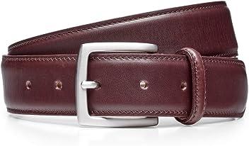 e125f69b8f4fd Cheaney Burgundy Calf Belt with Silver Buckle