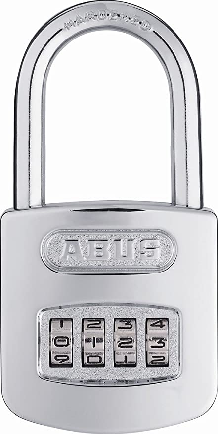 abus 160 50 all weather chrome combination padlock long shackle 2