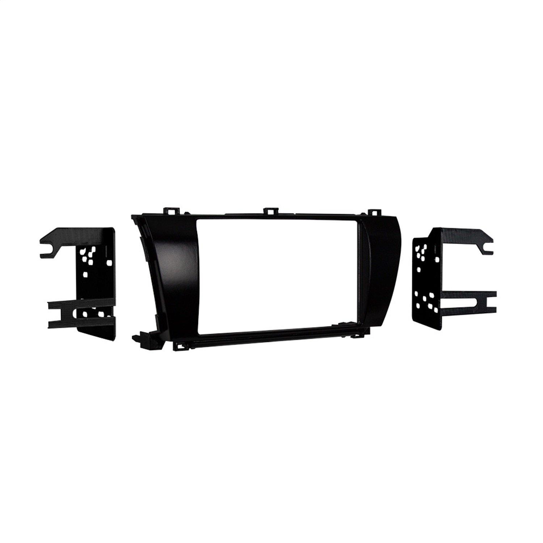 Metra 95-8245CHG High Gloss Double DIN Dash Kit for Toyota Corolla 2014- (Charcoal)