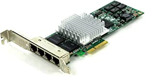 HP 436431-001 NC364T Quad Port Gigabit Ethernet Adapter Board - Has Four External RJ45 10/100/1000Mb Ports - Requires one Low Profile (or Full Height) x4 PCIe Slot (Renewed)