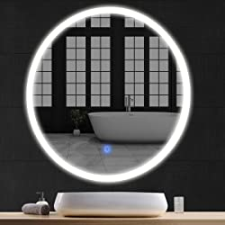 Tangkula 24inch LED Mirror Round
