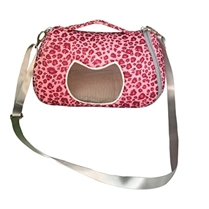 ee7173fca3 Leeotia Small Pet Carrier Bag Animal Outgoing Bag with Shoulder Strap  Portable Travel Handbag Backpack for Hedgehog Hamster Mouse Rat Sugar  Glider Squirrel ...