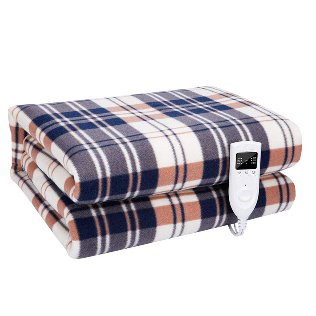 XIALIUXIA Plaid Electric Blanket/Fast Heating Soft Heated Throw Blanket /3 Heating Levels/2 Hours Auto Off Machine Washable Home Office Bed Sofa,A,21.8M