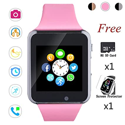 Beaulyn Smartwatch,Smart Watches and Cell Phone Watch with Card SIot Call\Camera\Music Player Pedometer Compatible for Bluetooth Android and iOS ...