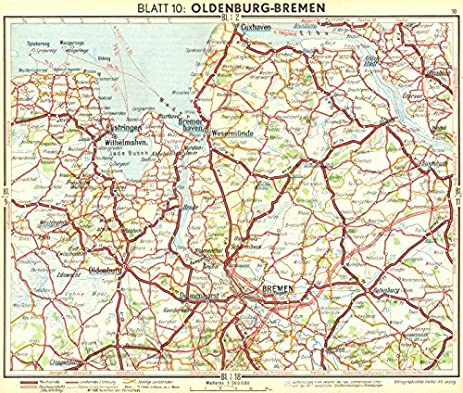 Amazoncom GERMANY OldenburgBremen Old Map Antique - Oldenburg map