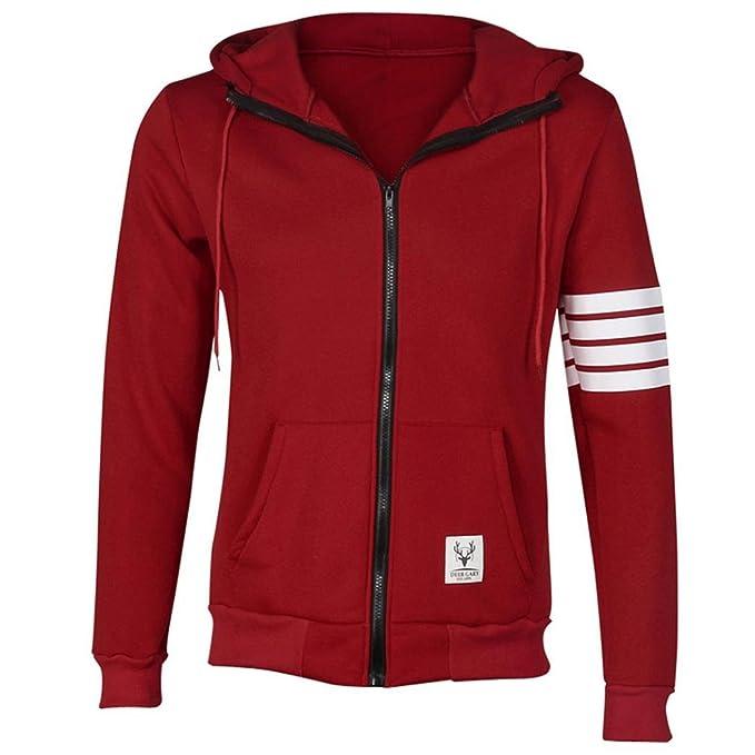 Coversolate Moda hombres Hoodies marca deportiva traje de alta calidad Hombres sudadera con capucha casual Zipper chaqueta con capucha hombres (M, ...