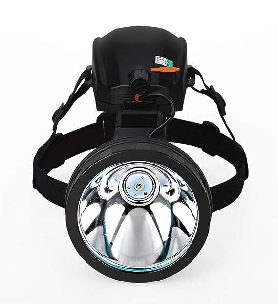 Auriculares para exteriores con reflector a prueba de agua auriculares recargables para pescar de noche con linterna de litio, 1500 metros de luz súper ...