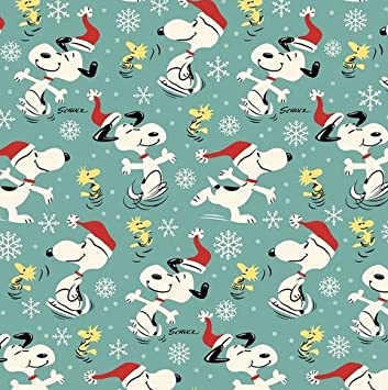 peanuts christmas wrapping paper gift wrap snoopy charlie brown woodstock 333 feet wide - Christmas Wrap