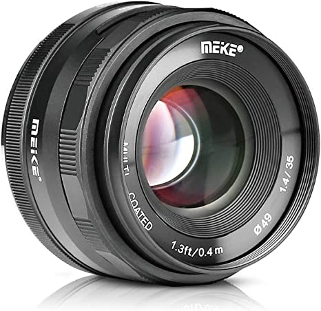 MEIKE MK-35mm F/1.4 - Lente de apertura manual compatible con ...